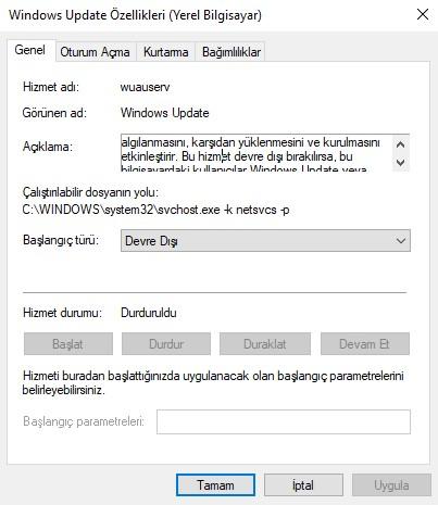 Windows İşletim Sistemi • Re: Windows 10 Güncellemeler Nasıl Kapatılır?